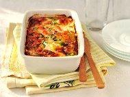 Рецепта Запеканка с филе от риба сьомга, чушки, моркови и доматен сос на фурна